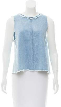 J Brand Sleeveless Denim Top