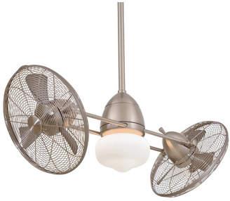 "Minka Aire Ceiling Fans Minka Aire 42"" Twin Gyro 6 Blade LED Turbofan"