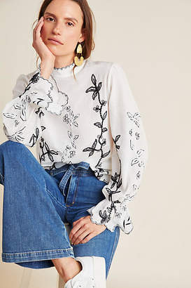 Not So Serious by Pallavi Mohan Hopper Embroidered Blouse