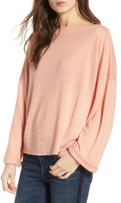 Women's Treasure & Bond Slouchy Fleece Pullover $49 thestylecure.com
