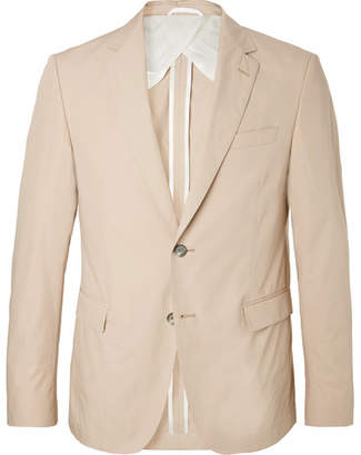 HUGO BOSS Beige Nobis Slim-Fit Cotton-Poplin Suit Jacket