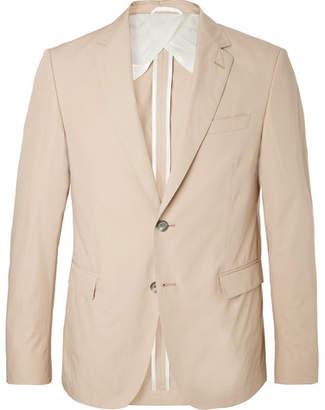 e939b732 HUGO BOSS Beige Nobis Slim-Fit Cotton-Poplin Suit Jacket