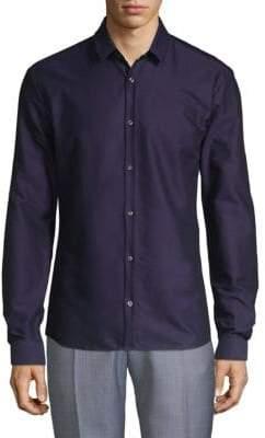 HUGO BOSS Slim-Fit Long-Sleeve Button-Down Shirt