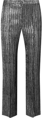 Isabel Marant Dansley Cropped Textured-lamé Straight-leg Pants
