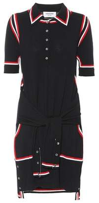 Thom Browne 2-In-1 merino wool cardigan dress