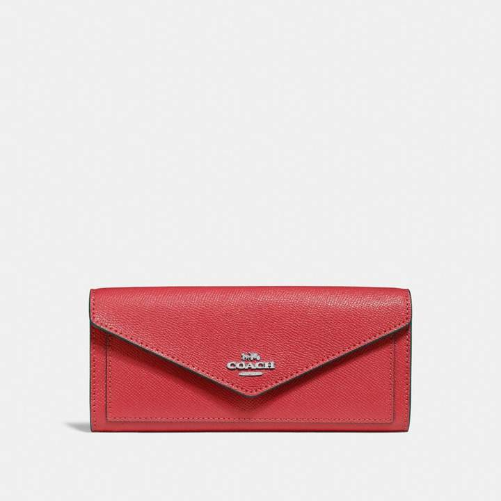Coach Soft Wallet - WASHED RED/DARK GUNMETAL - STYLE
