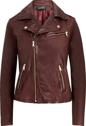 Ralph Lauren Tumbled Leather Moto Jacket