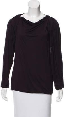 Lanvin Gathered Bateau Neck Top