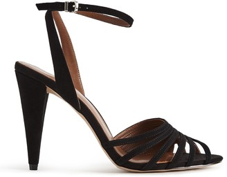 Reiss GARBO STRAPPY HIGH HEELED SANDALS Black