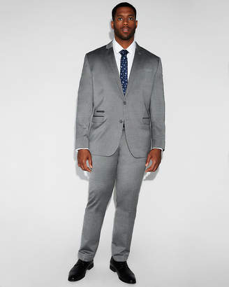 Express Slim Gray Wool Blend Oxford Suit Pant