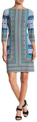Maggy London Print 3/4 Sleeve Dress $118 thestylecure.com