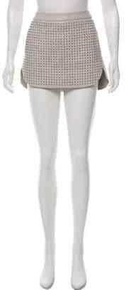 Mason Stud-Embellished Leather Skirt