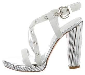 Casadei Suede Grommets Sandals