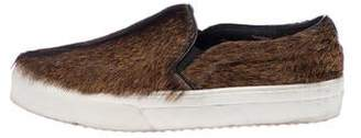 Celine Ponyhair Slip-On Sneakers