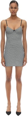 Alexander Wang HOUNDSTOOTH FITTED MINI DRESS