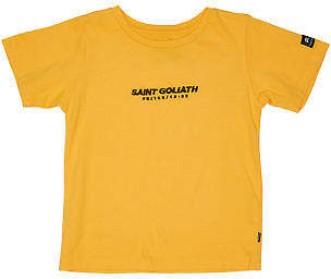 St Goliath New Boys Tots Boys Mail Tee Crew Neck Short Sleeve Cotton Orange