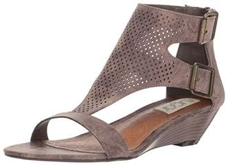 Sugar Women's Wigout Demi T-Bar Open Toe Buckle Wedge Sandal