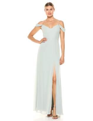 Jenny Yoo Women's Priya Off The Shoulder Long Chiffon Gown