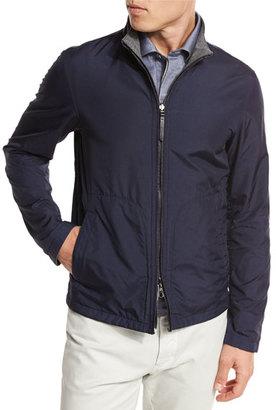 Ermenegildo Zegna Reversible Microfiber Blouson Jacket $1,595 thestylecure.com