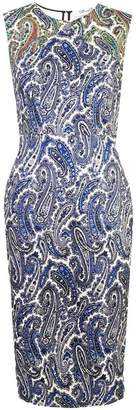 Diane von Furstenberg fitted paisley dress