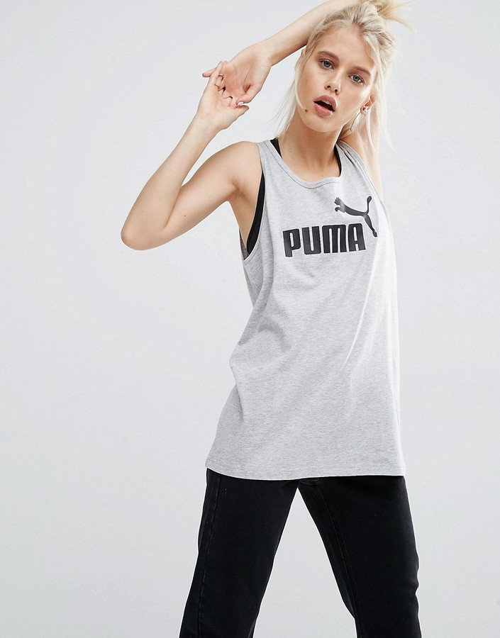 Puma Longline Tank Top With Classic Logo