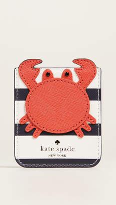 Kate Spade Crab Phone Sticker Pocket