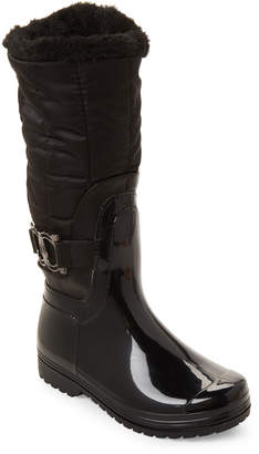 Henry Ferrera (Toddler/Kids Girls) Black Side Buckle Tall Boots