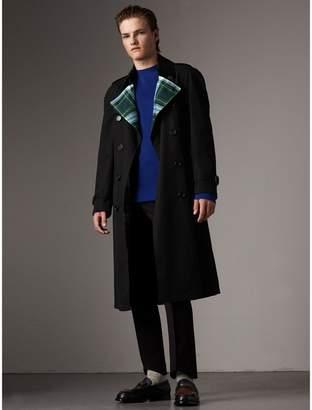 Burberry Tartan-lined Cotton Gabardine Trench Coat