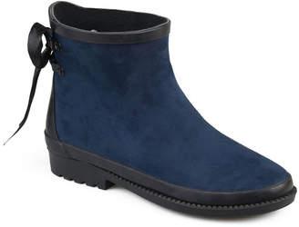 Journee Collection Womens Burke Rain Boots Weatherproof Block Heel Pull-on
