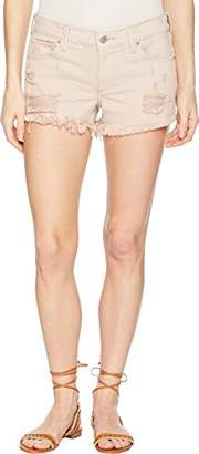 Lucky Brand Women's Mid Rise Cut Off Short in Light Pink Reyes