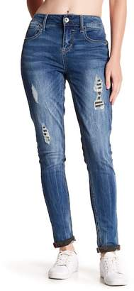 Seven7 Camo Patch Cuffed Ankle Skinny Jeans