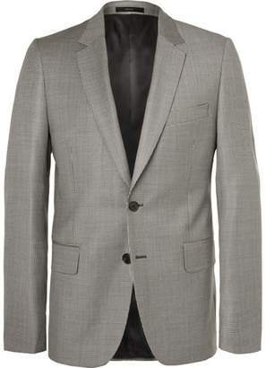 Paul Smith Grey Soho Slim-fit Houndstooth Wool Suit Jacket - Gray