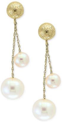 Effy Pearl by Cultured Freshwater Pearl (5mm & 8mm) Drop Earrings in 14k Gold