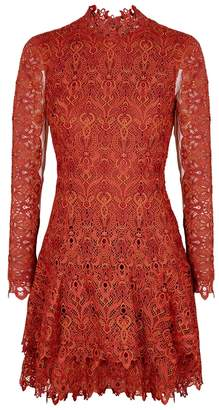 Jonathan Simkhai Rust Guipure Lace Mini Dress