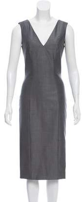 John Galliano Wool Sheath Dress