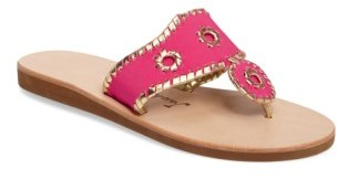 Women's Jack Rogers Boating Jacks Thong Sandal $89.95 thestylecure.com