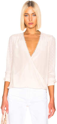 L'Agence Perry Fabric Blocked Blouse in Champagne Combo | FWRD