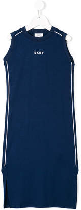 DKNY long printed logo dress