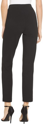 St. John Ponte Cropped Pull-On Pant with Pintuck
