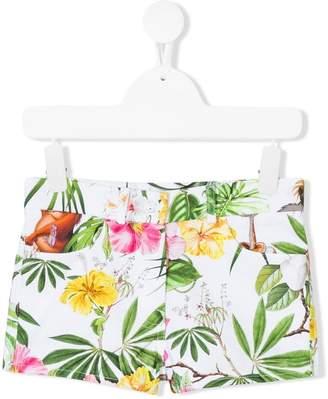 MonnaLisa tropical print shorts