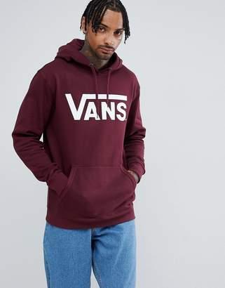 Vans large logo hoodie in red VN000J8NK1O1