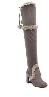 Charles by Charles David Odom Over-The-Knee Faux Fur Boot