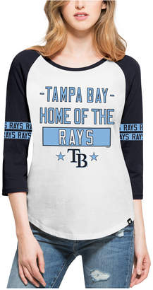 '47 Women's Tampa Bay Rays Triple Crown Raglan T-Shirt