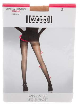 Wolford Miss W 30 Leg Support Tights w/ Tags