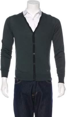 Emporio Armani V-Neck Knit Cardigan w/ Tags