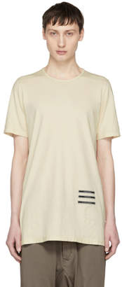 Rick Owens Beige Text Patch Level T-Shirt