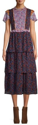Anna Sui Sui By Women's Falling Leaves Print Dress