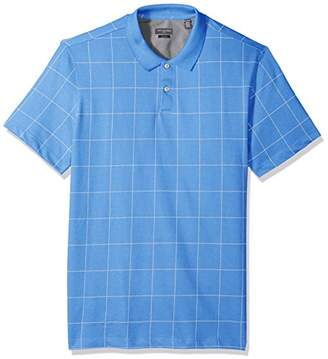 Van Heusen Men's Slim Fit Short Sleeve Printed Windowpane Polo Shirt