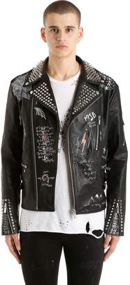 Corium Studded Leather Biker Jacket 27