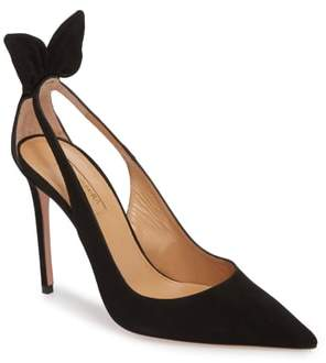 Aquazzura Deneuve Bow Pointy Toe Pump